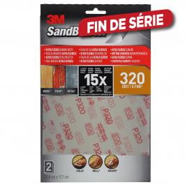 Feuille abrasive Ultra Flexible SandBlaster G320 2 pièces 3M