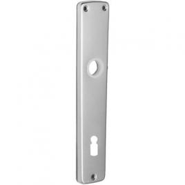 Plaque pour porte en aluminium 90 mm argenté 2 pièces