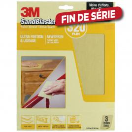 Feuille abrasive SandBlaster à grain fin G320 3 pièces 3M
