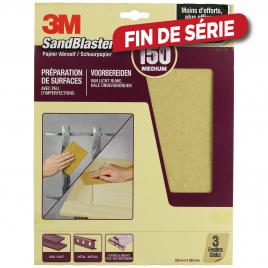 Feuille abrasive SandBlaster à grain moyen G150 pièces 3M
