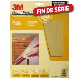 Feuille abrasive SandBlaster à grain fin G180 3 pièces 3M