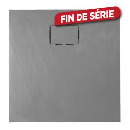 Receveur de douche Rockstone gris carré 90 x 90 cm ALLIBERT