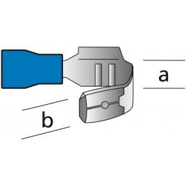 Cosse de câble 6,3 x 0,8 x 18,5 mm 10 pièces CARPOINT