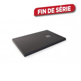 Receveur de douche Stone noir rectangle 120 x 80 cm AURLANE