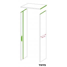 Option d'ébrasement 40 cm pour porte coupe feu 30 min S63 Laminado 231,5 cm 1 point platina blanc THYS