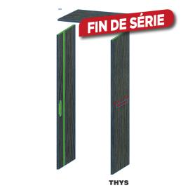 Option d'ébrasement 40 cm pour porte coupe feu 30 min S63 Laminado 231,5 cm 1 point chêne anthracite THYS