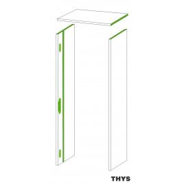 Option d'ébrasement 40 cm pour porte coupe feu 30 min S63 Laminado 201,5 cm 3 points platina blanc THYS