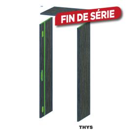 Option d'ébrasement 40 cm pour porte coupe feu 30 min S63 Laminado 231,5 cm 3 points chêne anthracite THYS