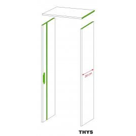 Option d'ébrasement 20 cm pour porte coupe feu 30 min S63 Laminado 1 point 211,5 cm platina blanc THYS