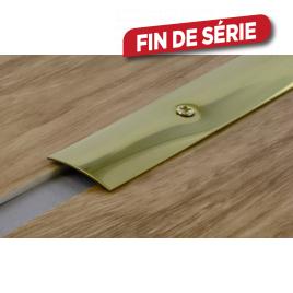 Barre de seuil à visser en laiton 93 x 3 cm