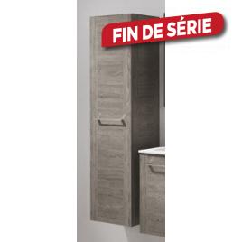 Colonne de salle de bain Asteria Chêne américain gris 40 x 155 cm ALLIBERT
