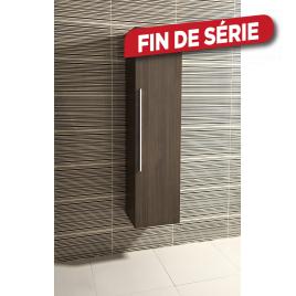 Colonne de salle de bain Bilbao Chêne foncé 40 x 160 x 35 cm SANIMAR