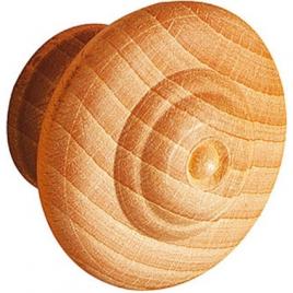 Bouton avec cercles en frêne - 30 mm
