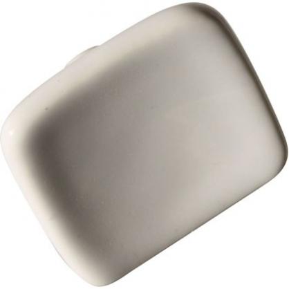 Bouton carré porcelaine Blanc 35 x 18 mm