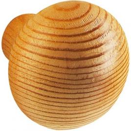 Bouton en bois de pin - 35 mm