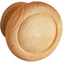 Bouton bois frêne 742 - 30 mm