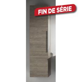 Colonne de salle de bain Absolute Chêne américain gris 40 x 155 cm ALLIBERT