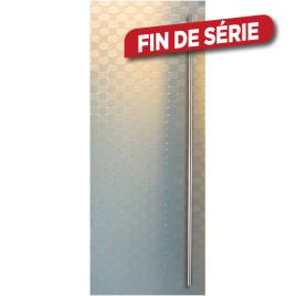 Porte en verre à relief securit poignées et charnières en inox Thytan Everyway 88 x 201 cm THYS