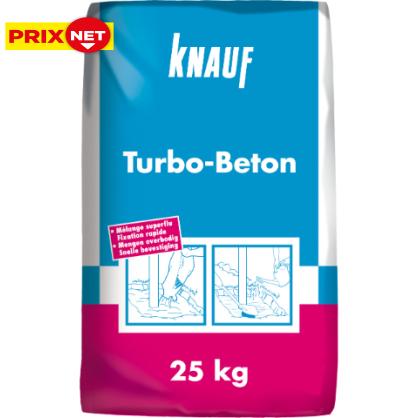 Béton à prise rapide prêt-à-l'emploi Turbo Béton 25 kg KNAUF