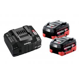 Batterie LIHD avec chargeur 18 V 5,5 Ah 2 pièces METABO