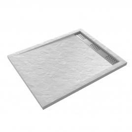 Receveur de douche Pedra rectangle 100 x 80 cm AURLANE