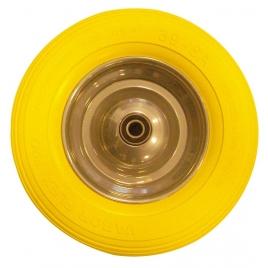 Pneu increvable jaune PU jante acier