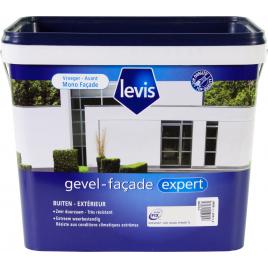 Peinture pour mur extérieur Blanc Fermette satinée 5 L LEVIS