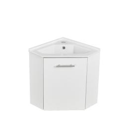 Meuble lave-mains Corner blanc brillant ALLIBERT