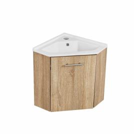 Meuble lave-mains Corner noir ALLIBERT