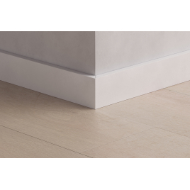 Plinthe résistante à l'eau 200 x 5,8 x 1,2 cm blanc PERGO