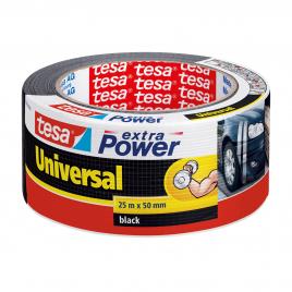 Ruban adhésif Extra Power Universal noir 25 m x 50 mm TESA