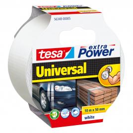 Ruban adhésif Extra Power Universal Blanc 10 m x 50 mm TESA