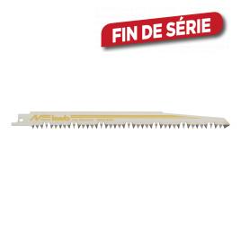 Lame de scie sabre pour bois en acier et carbone HCS 305 mm 2 pièces KWB