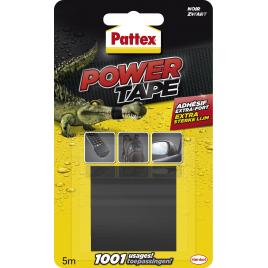 Adhésif de réparation Power Tape noir 5 m x 50 mm PATTEX