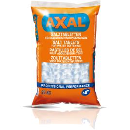 Pastilles de sel pour adoucisseurs d'eau 25 kg AXAL