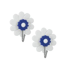 Crochet adhésif Fleur 2 pièces