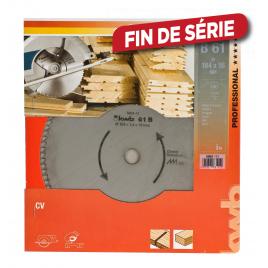 Lame de scie circulaire pour bois profilés Ø 184 x 16 mm 100 dents KWB