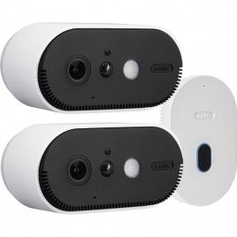 Kit de 2 caméras sur batterie Wi-Fi avec station ABUS