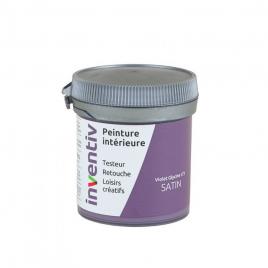 Testeur peinture pour mur boiserie radiateur Violette Glycine satiné 0,08 L INVENTIV