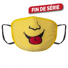 Masque en tissu jaune avec motif 6 - 12 ans WOLFCRAFT