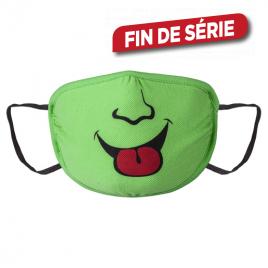 Masque en tissu vert avec motif 6 - 12 ans WOLFCRAFT