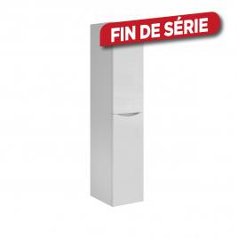 Colonne de salle de bain gauche Smiley blanche brillante 40 x 35 x 180 cm ALLIBERT