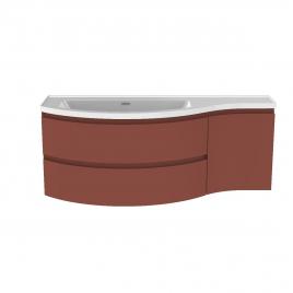Meuble de salle de bain Verso terracotta mat 130 x 50 x 49,5 cm ALLIBERT