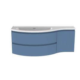 Meuble de salle de bain Verso bleu mat 130 x 50 x 49,5 cm ALLIBERT