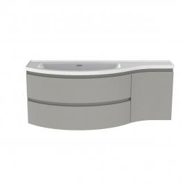 Meuble de salle de bain Verso gris mat 130 x 50 x 49,5 cm ALLIBERT