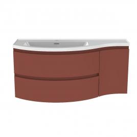 Meuble de salle de bain Verso terracotta mat 110 x 47 x 49,5 cm ALLIBERT