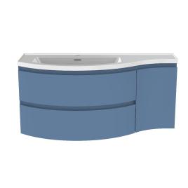 Meuble de salle de bain Verso bleu mat 110 x 47 x 49,5 cm ALLIBERT