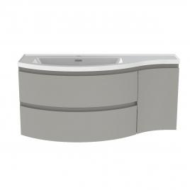 Meuble de salle de bain Verso gris mat 110 x 47 x 49,5 cm ALLIBERT