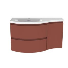 Meuble de salle de bain Verso terracotta mat 90 x 44 x 49,5 cm ALLIBERT