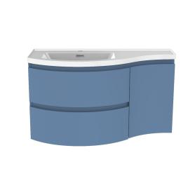 Meuble de salle de bain Verso bleu mat 90 x 44 x 49,5 cm ALLIBERT